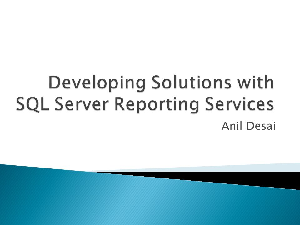 Specifies connection information for reporting data Supported Data Sources: Any OLEDB / ODBC-compliant data source Relational SQL Server Oracle MS Access OLAP / Multi-Dimensional SQL Server Analysis Services XML, Excel, CSV, TSV, etc.