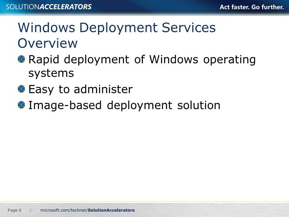 Windows Deployment Services Design Flow Page 7 |