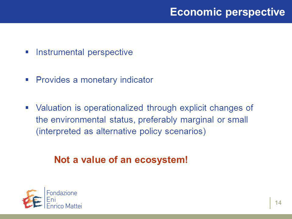 13 All in all… It is clear that different valuation perspectives can be distinguished based on the above considerations.
