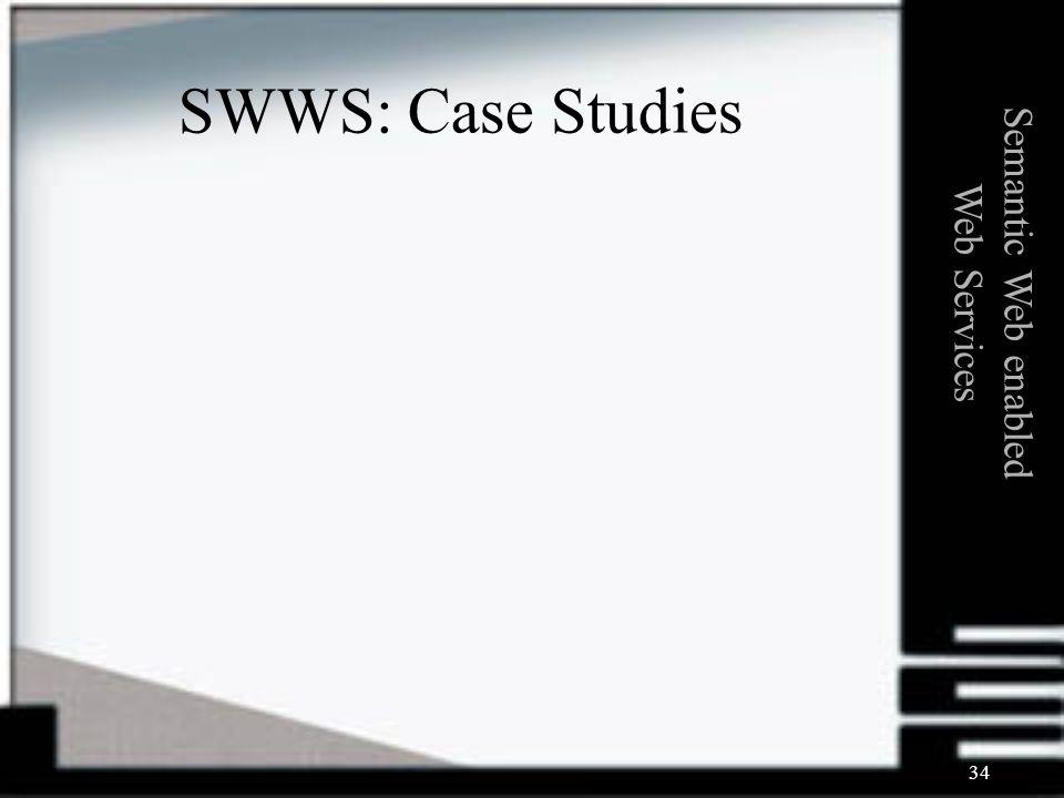 34 Semantic Web enabled Web Services SWWS: Case Studies