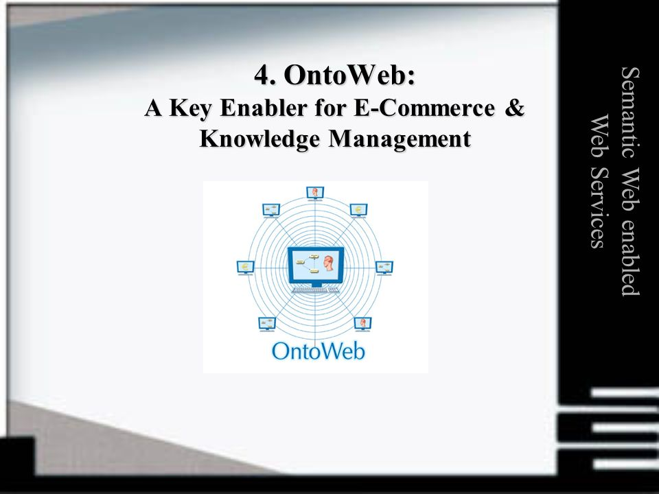 4. OntoWeb: A Key Enabler for E-Commerce & Knowledge Management Semantic Web enabled Web Services