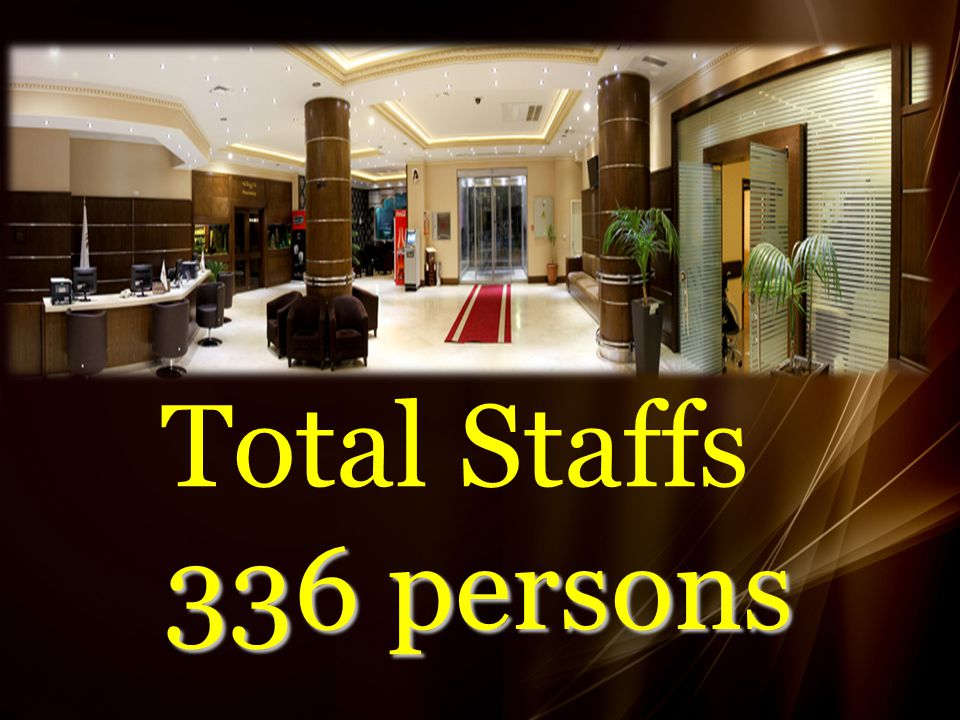Total Staffs 336 persons