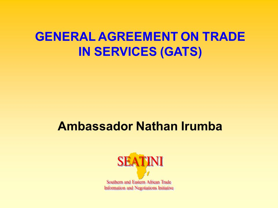 INTERFACE BETWEEN DOHA ROUND AND THE ECONOMIC PARTNERSHIP AGREEMENT Requirement of article (v) of GATS on Regional Trade Agreements which EPAs must conform to if there are to be binding rules.
