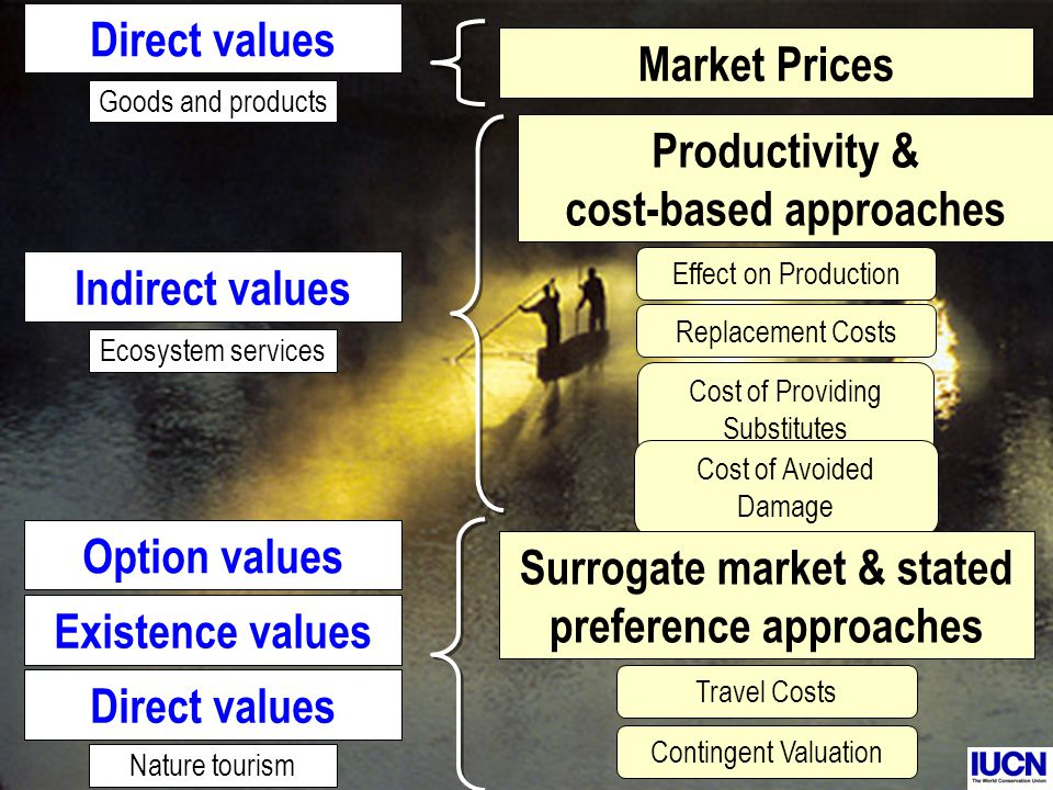 Advantages of Cost-Based Methods +Particularly useful for valuing ecosystem services +Simple to apply and analyse (rely on 2dary data on benefits from ecosystem services and cost of alternative).
