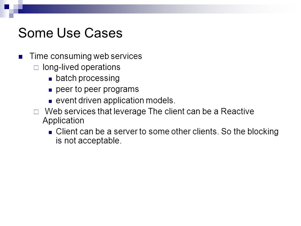 Some Use Cases contd..