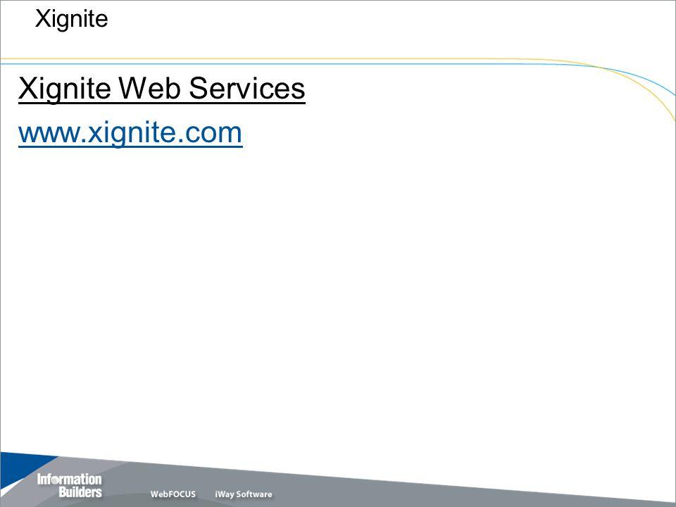 Copyright 2007, Information Builders. Slide 42 Xignite Xignite Web Services www.xignite.com
