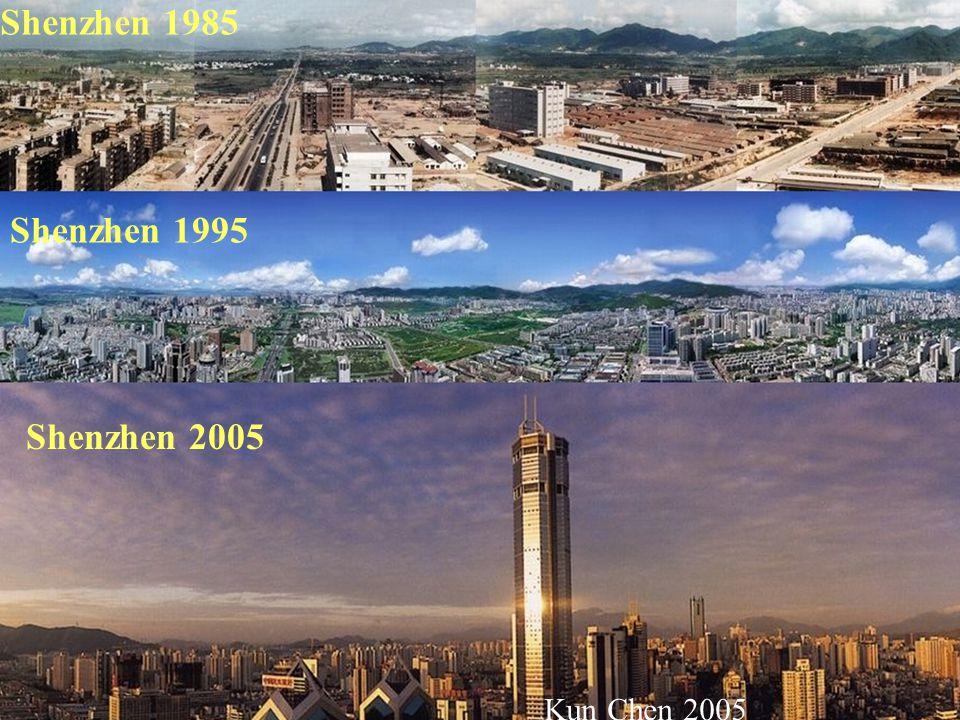 Shenzhen 1995 Shenzhen 2005 Shenzhen 1985 Kun Chen 2005