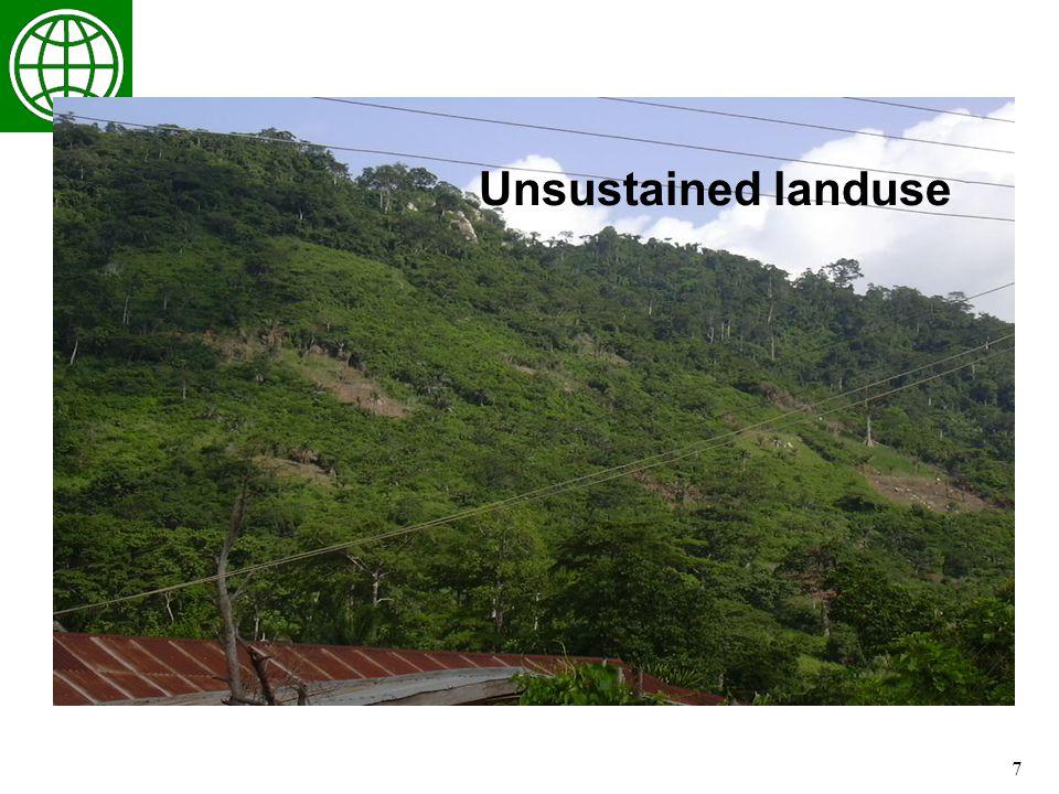 7 Unsustained landuse