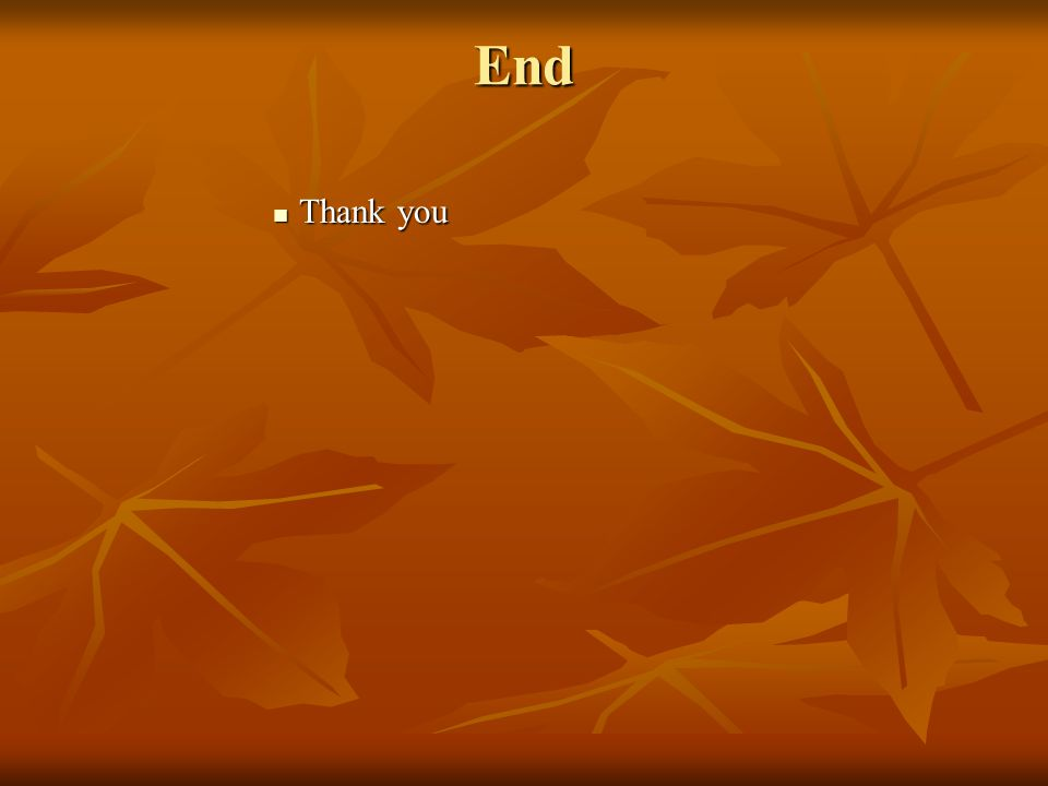 End Thank you Thank you