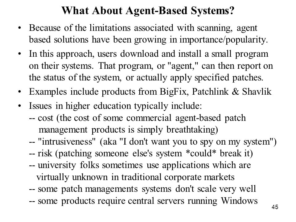 45 What About Agent-Based Systems.