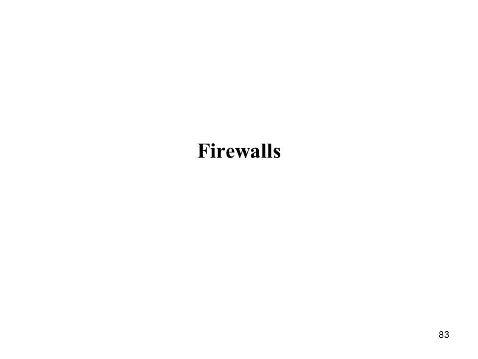 83 Firewalls