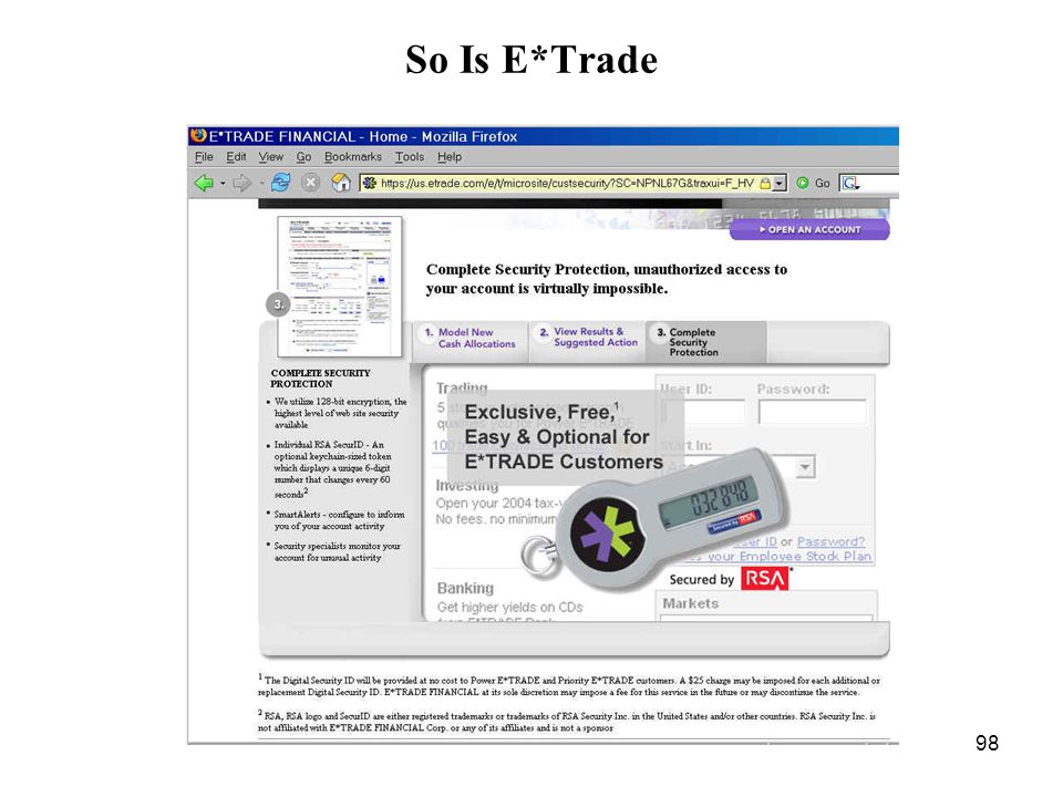 98 So Is E*Trade