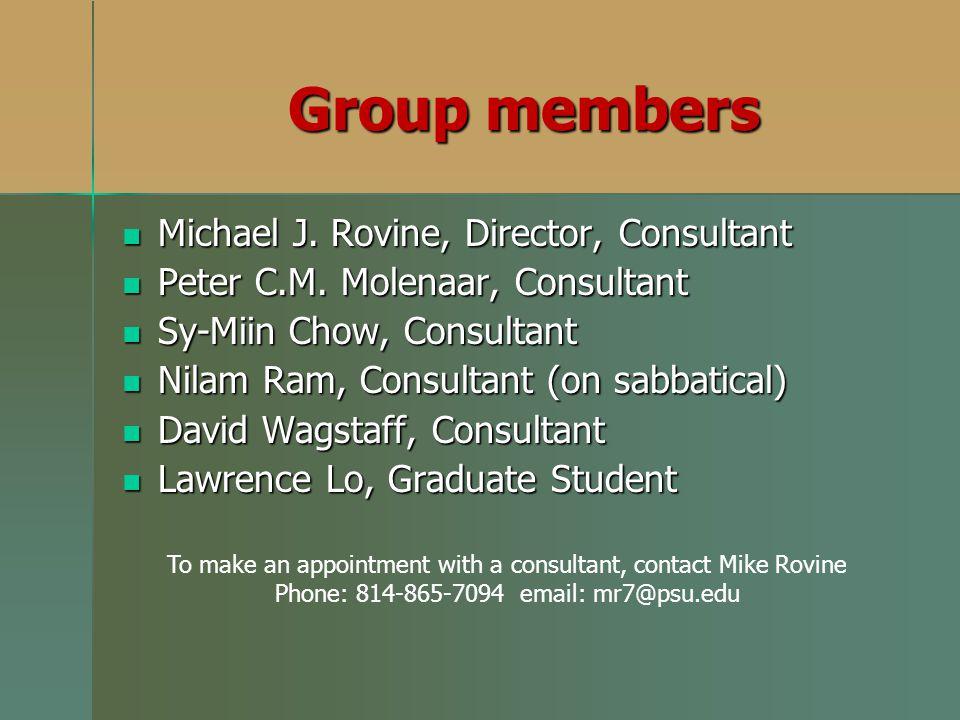 Michael J. Rovine, Director, Consultant Michael J. Rovine, Director, Consultant Peter C.M. Molenaar, Consultant Peter C.M. Molenaar, Consultant Sy-Mii