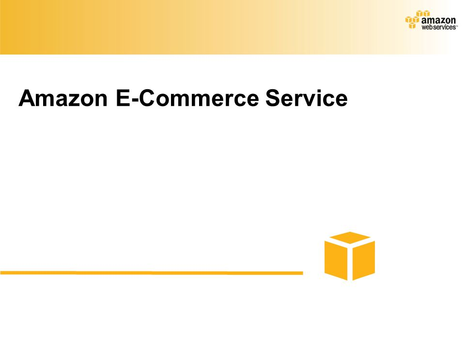 Amazon E-Commerce Service