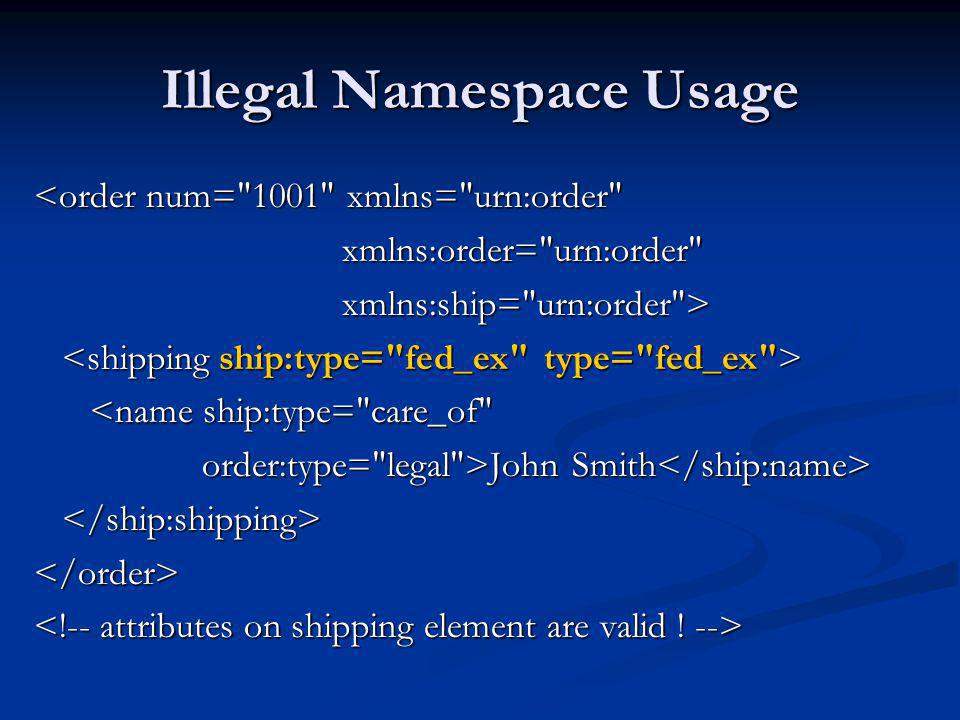 XPath and Namespaces xpath/namespaces.php //title Empty NodeSet //t:title Basic Languages French I French II //defns Empty NodeSet //*[local-name()= defns ] content