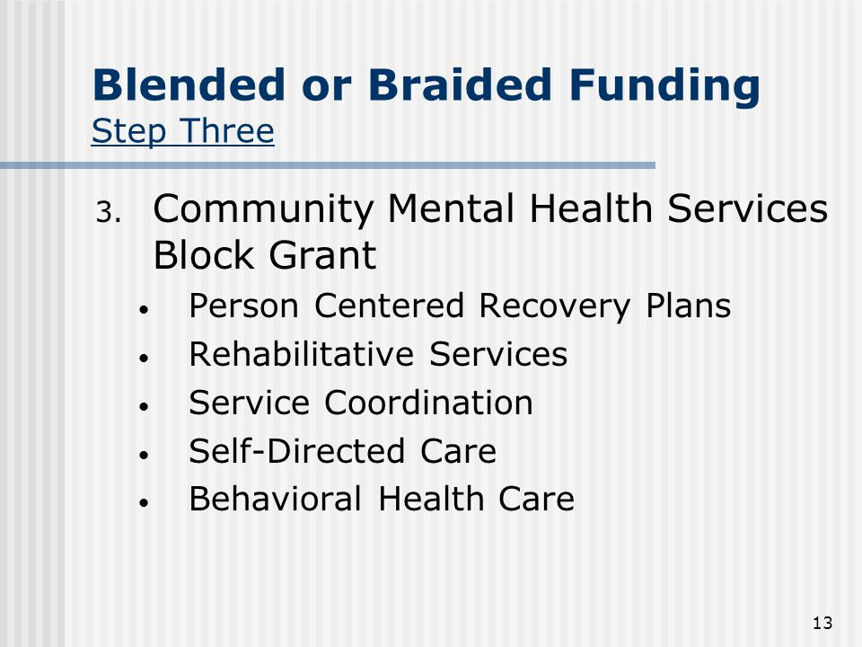 13 Blended or Braided Funding Step Three 3.