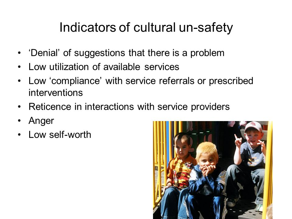 Cultural safety is respectful engagement that supports & protects many paths to wellbeing Finding our way to supporting wellness among diverse communities of children and families requires many pathways.