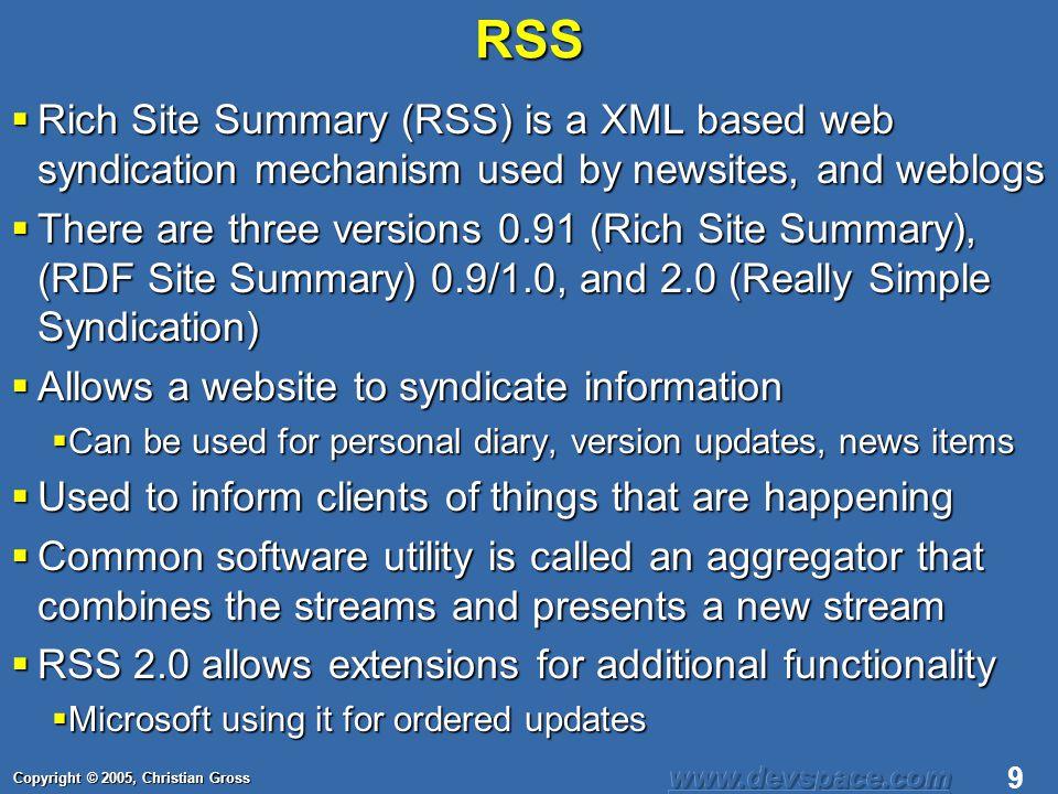 Copyright © 2005, Christian Gross 10 RSS Format <rss version= 2.0 xmlns:rdf= http://www.w3.org/1999/02/22-rdf-syntax-ns# xmlns:dc= http://purl.org/dc/elements/1.1/ xmlns:admin= http://webns.net/mvcb/ > Blogger Jacks http://www.devspace.com News and Politics for the Software Industry en-us Christian Gross 2005-06-21T11:24:09+02:00 Tue, 10 Jun 2003 09:41:01 GMT http://www.devspace.com/tech/rss Weblog Editor 2.0 editor@example.com webmaster@example.com http://www.devspace.com/archives/2005/06/22T09_30_00.html Backward Thinking and Forward Thinking 2005-06-22T09:30:00+02:00 Christian Gross Tue, 03 Jun 2003 09:39:21 GMT http://www.devspace.com/ archives/2005/06/22T09_30_00.html Channel Description Item Description