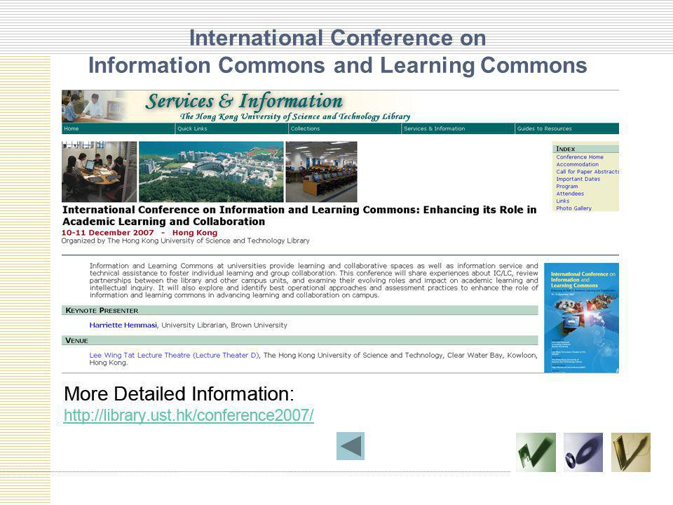 International Conference on Information Commons and Learning Commons