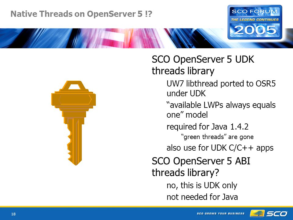 18 Native Threads on OpenServer 5 !.
