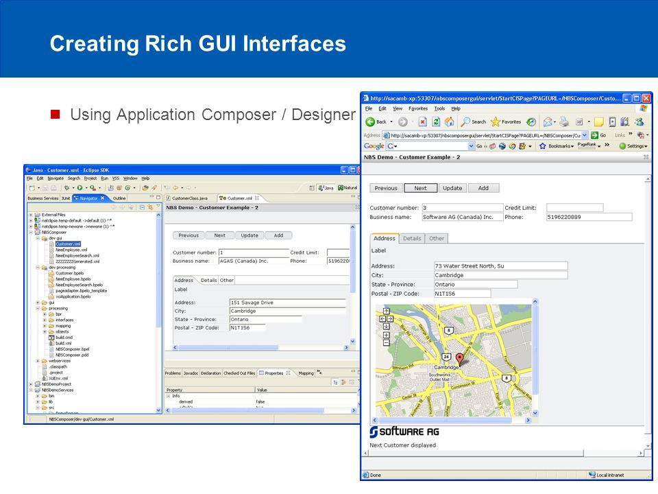 Author / 6/12/2014 / 13 Software AG Creating Rich GUI Interfaces Using Application Composer / Designer