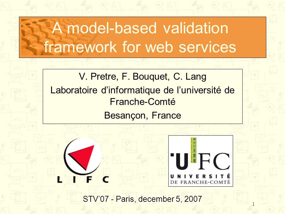 1 A model-based validation framework for web services V.
