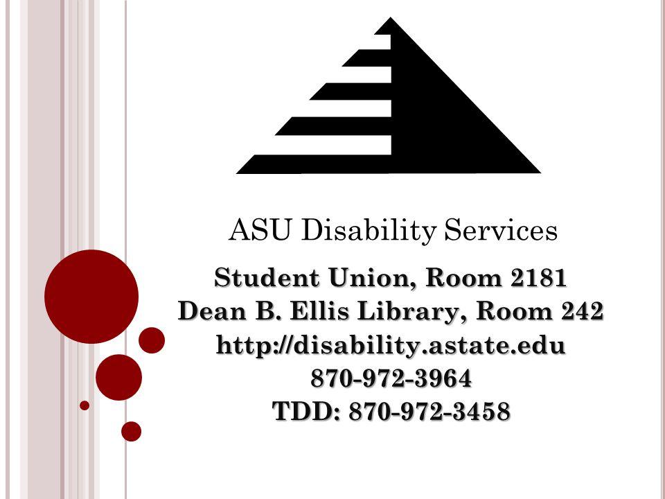 Student Union, Room 2181 Dean B.