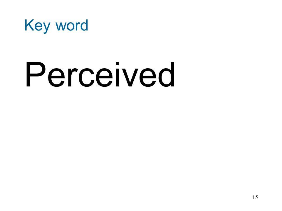 15 Key word Perceived