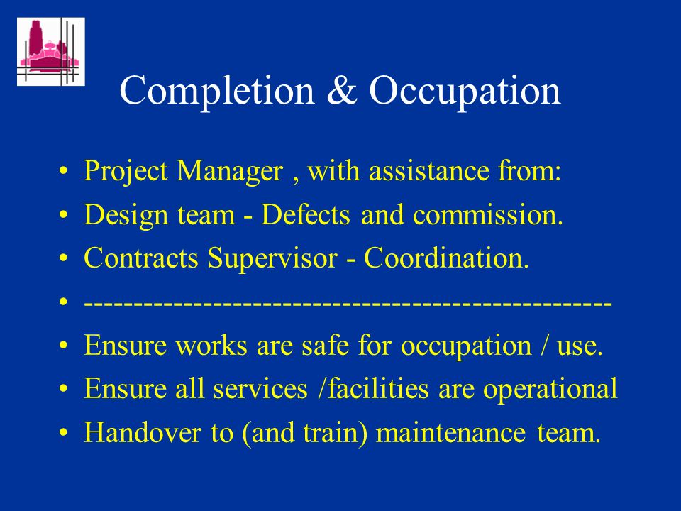 Contracts Supervisors (Their role - Projects) Work directly to Project Manager and other members of Design team.
