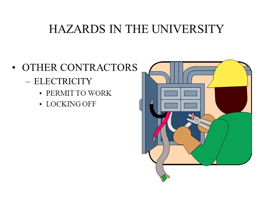 HAZARDS IN THE UNIVERSITY ANIMAL HOUSES ASBESTOS STUDENTS –ACCESS –SECURITY OF EQUIPT