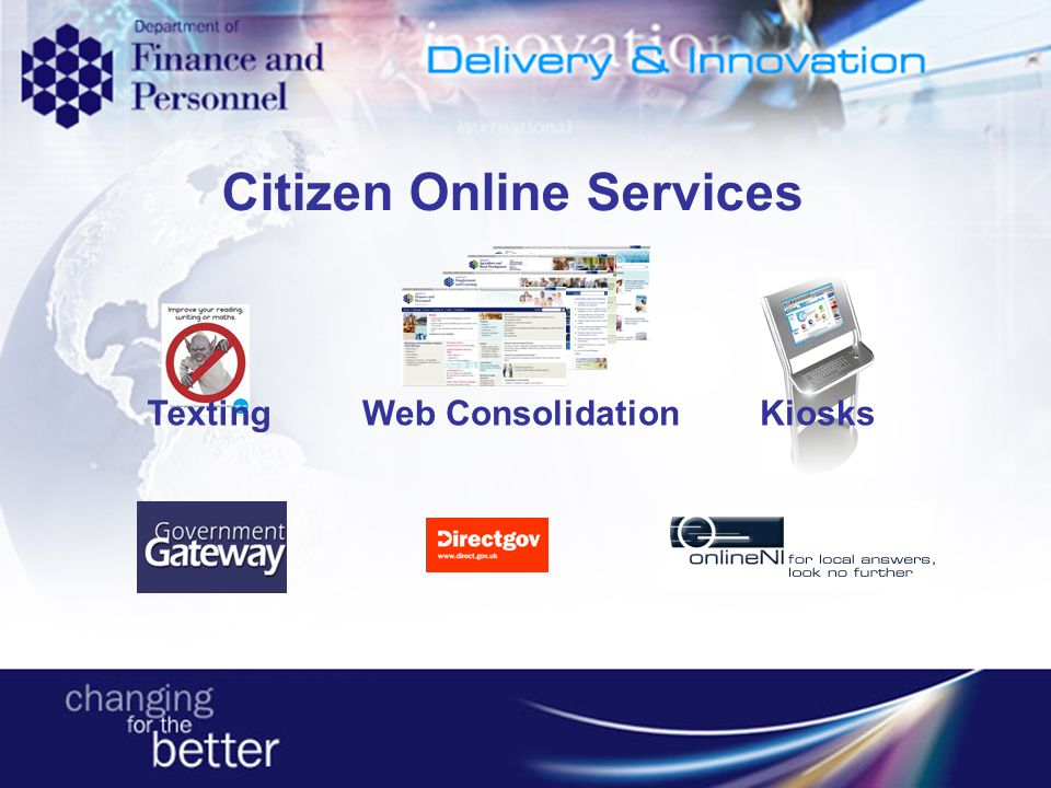 Kiosks Web Consolidation Texting Citizen Online Services