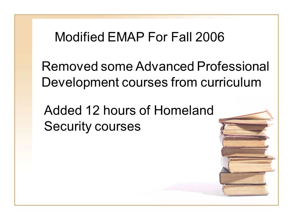 Offer Additional Options to Other Degrees Fire Science Degree with an Emphasis in Homeland Security Criminal Justice Forensic Science With an emphasis in Homeland Security Level I and Level II Certificate In Homeland Security