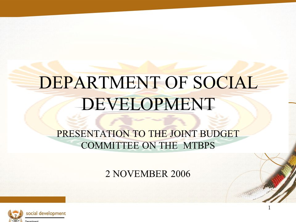 12 SPENDING TRENDS IN SOCIAL DEVELOPMENT BUDGETS [Cont.] A large portion of social welfare services is dependent on social workers.