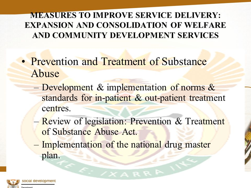 9 Measures to improve co-ordination in the sector The national and provincial departments are all undergoing restructuring to re-position themselves towards delivering social development services DSD sector reform DSD Macro plan & Sector Strategy Norms and Standards Integrated Information Management system HR Plan Mobilise resources based on the macro plan and sector strategy Effective and Integrated M&E System Plan for establishment, management and maintenance of sector facilities and institutions
