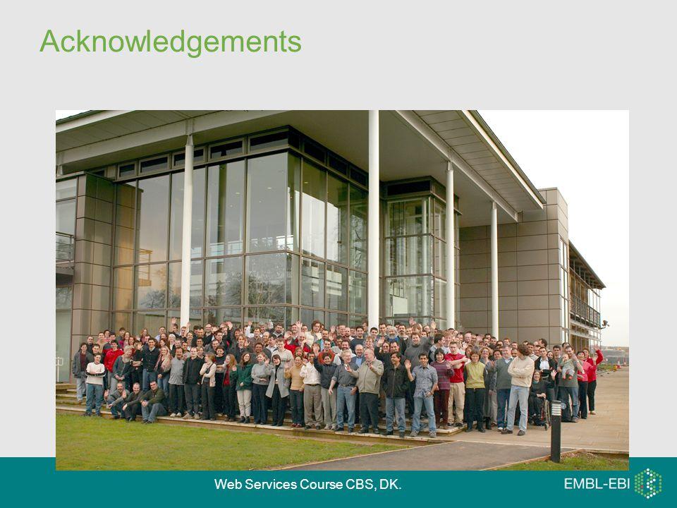 Web Services Course CBS, DK. Acknowledgements