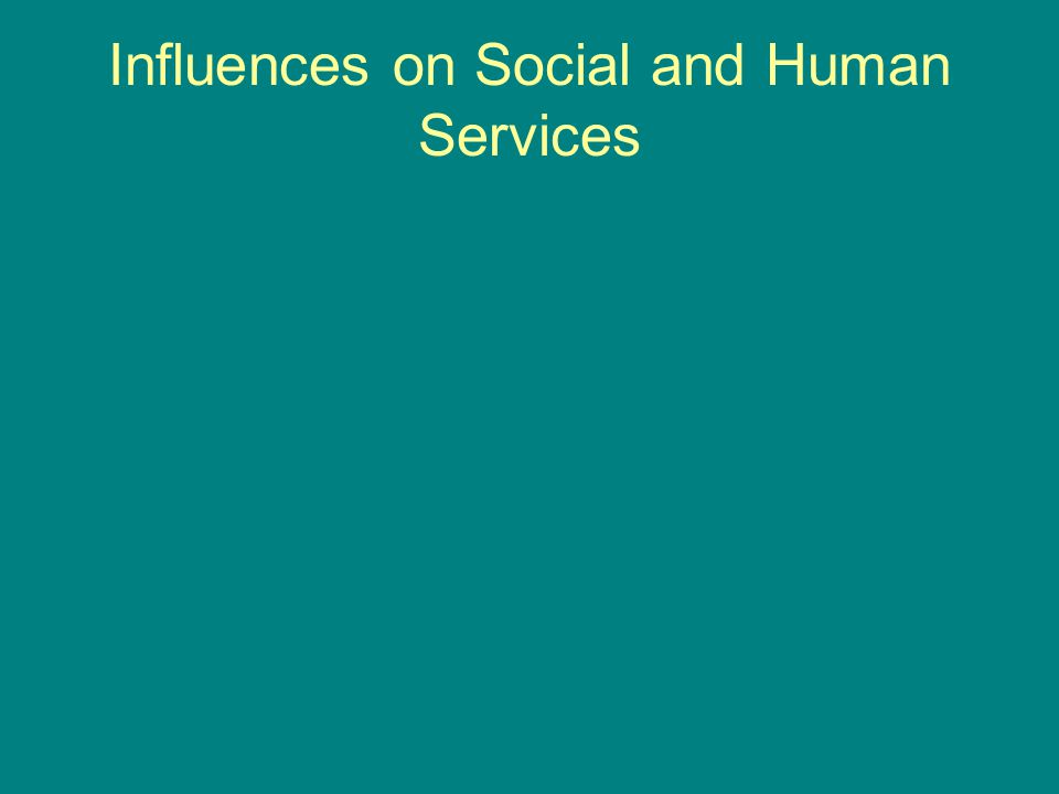 Influences on Social and Human Services