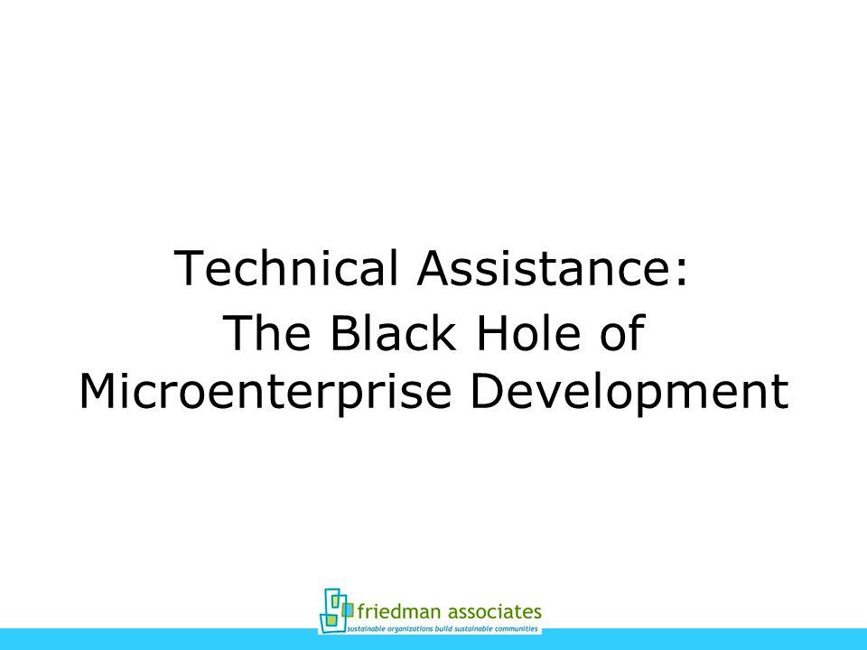 Technical Assistance: The Black Hole of Microenterprise Development