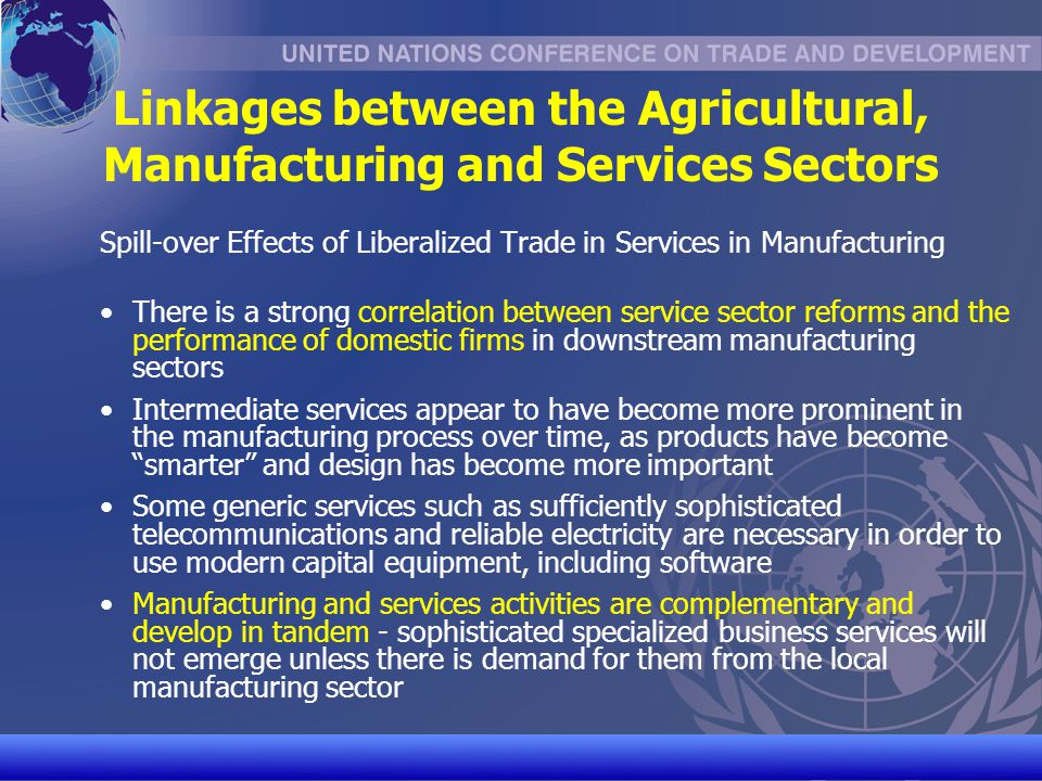 UNCTAD/CD-TFT 8 Linkages Between Regional and Multilateral Trade Negotiations A study by OECD indicates that intra-regional services trade accounts for the vast majority of developing countries South-South services trade Services PTAs can be building blocks for multilateral trade liberalization (Fink and Jansen, 2007) RTAs can strengthen developing countries supply and export capacities in services Countries which have reviewed their laws & regulations and performed assessments of trade in services for RTAs will be better prepared for services negotiations in the WTO