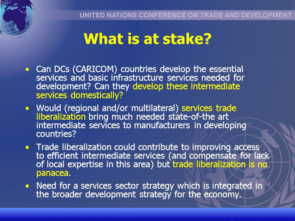 UNCTAD/CD-TFT 20 Overview of Selected Activities Regional integration (SADC) Objective is to provide TC in institution- and capacity-building to the SADC Secretariat, SADC negotiating machinery and SADC MS in initiating and conducting negotiations on trade in services with a view to supporting regional integration as well as building a coherent-and- mutually supportive approach for the SADC region in regional, inter- regional and multilateral trade negotiations Activities included: Training for Secretariat and SADC MS on issues related to services, including through the organization of national and regional workshops Support to the SADC negotiating machinery (TNF), incl.