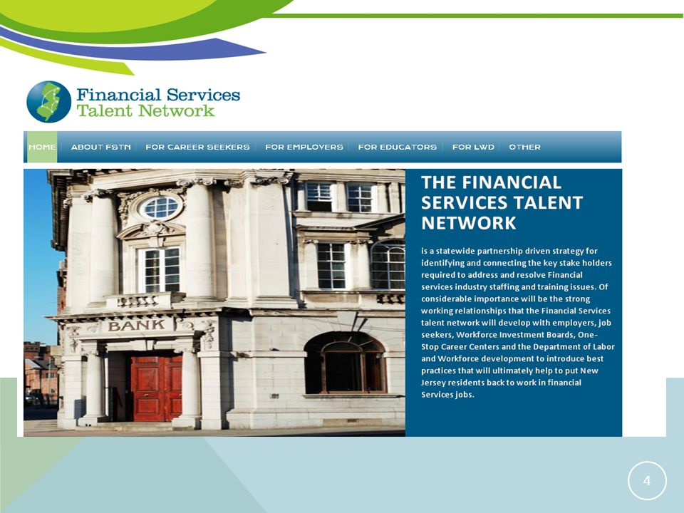 FINANCIAL SERVICES TALENT NETWORK WEBSITE 4