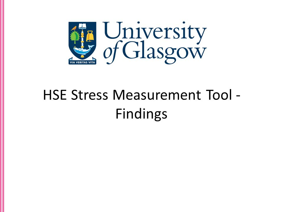 HSE Stress Measurement Tool - Findings