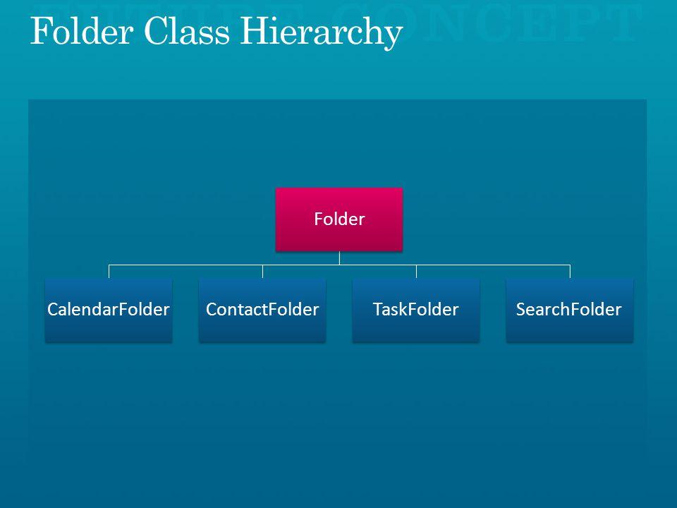 Folder CalendarFolderContactFolderTaskFolderSearchFolder