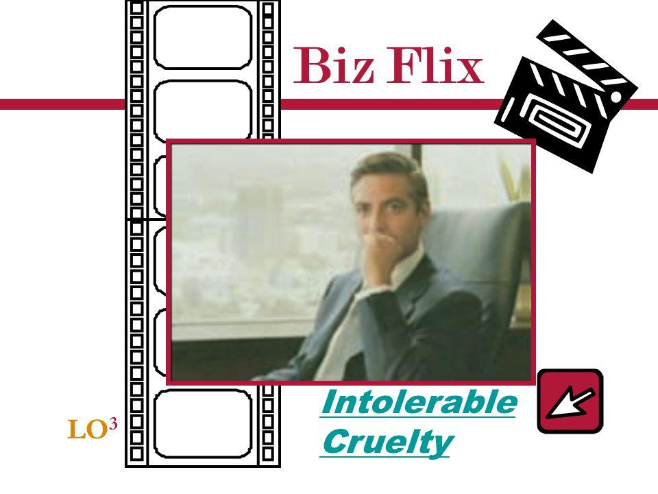 Biz Flix LO 3 Intolerable Cruelty