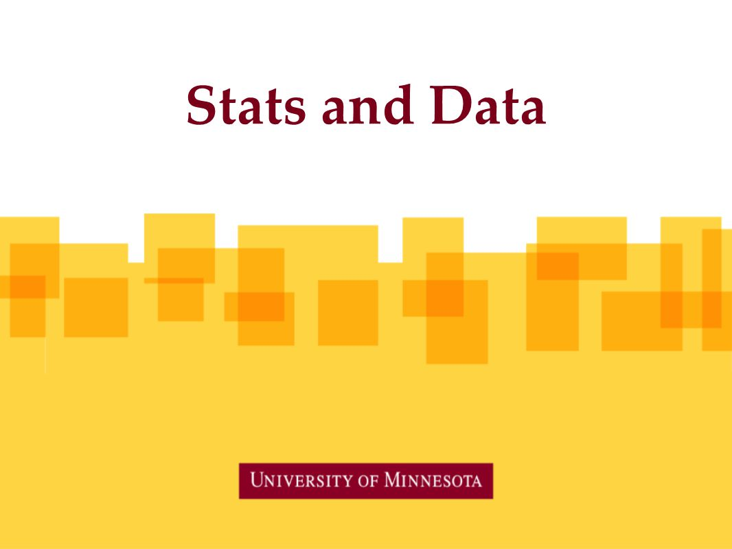 Stats and Data