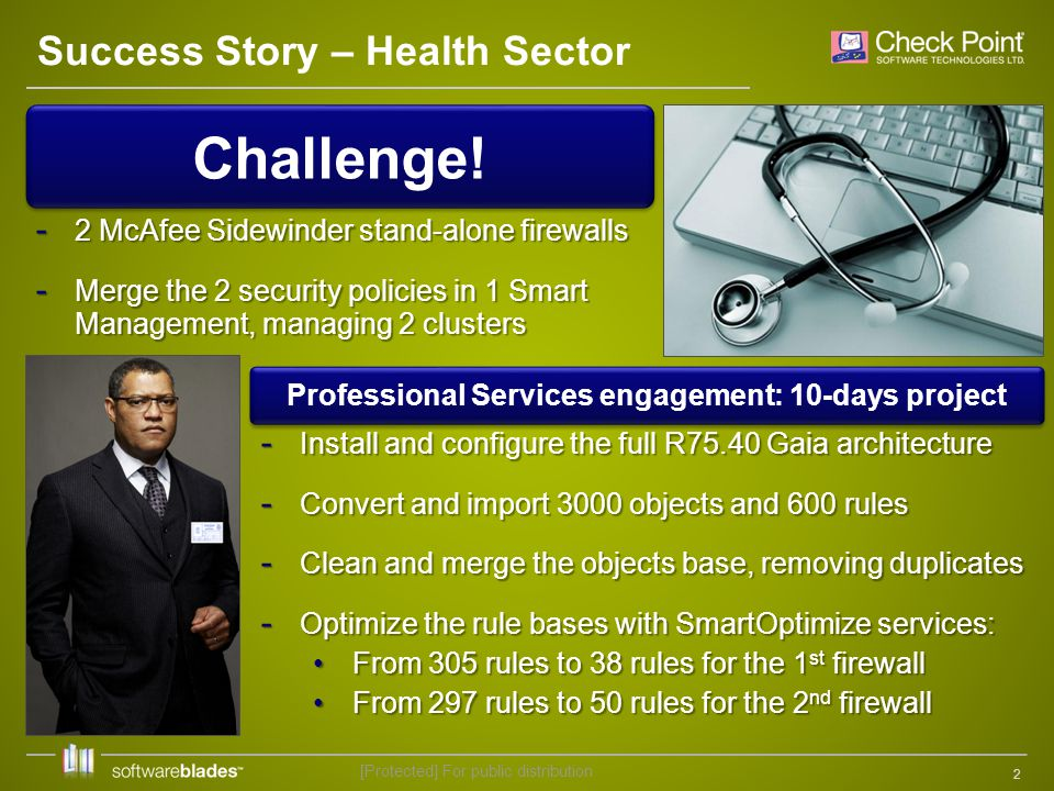 2 Success Story – Health Sector Challenge.