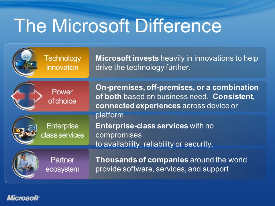 The Microsoft Difference