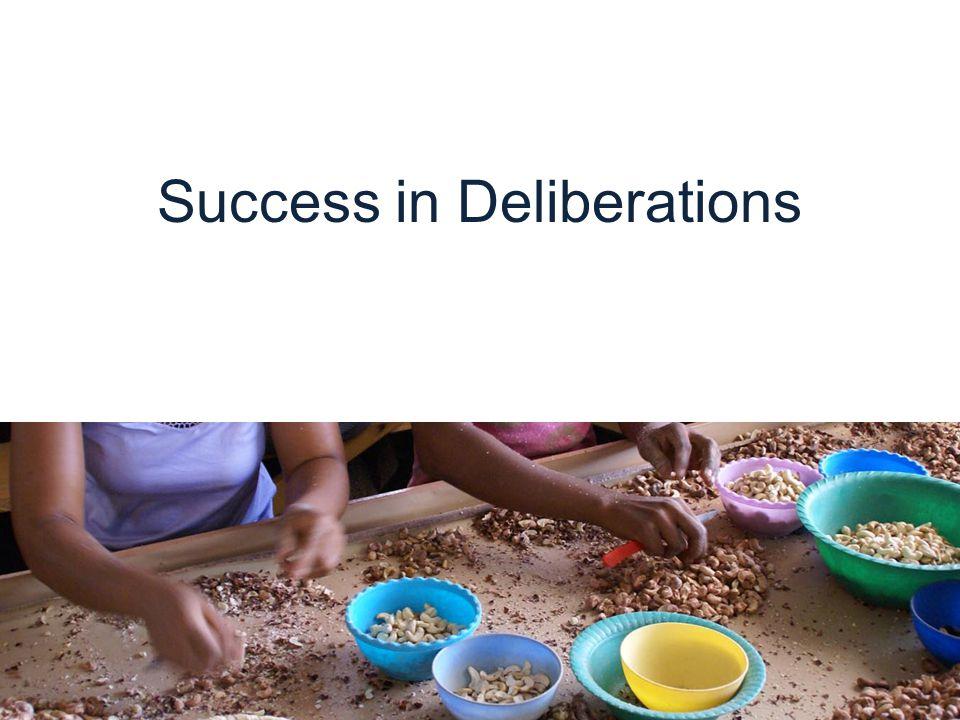 Success in Deliberations