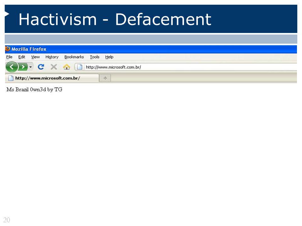 Hactivism - Defacement 20