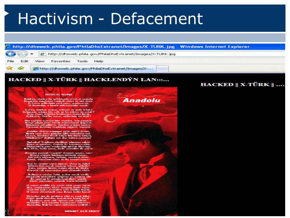 Hactivism - Defacement 21