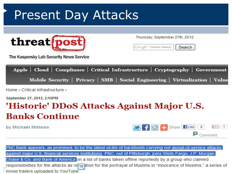 Present Day Attacks 27